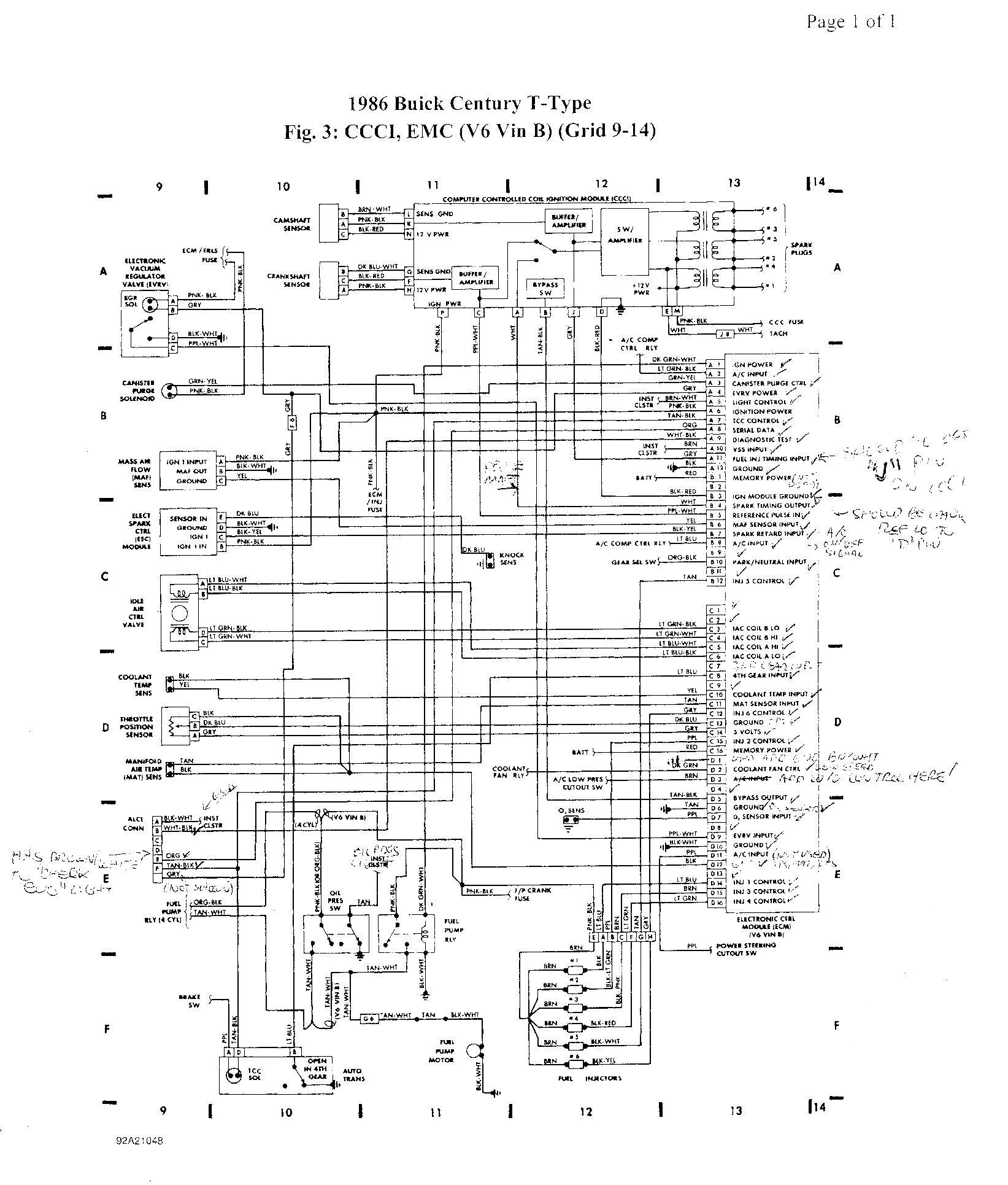 '86 Century wiring D..